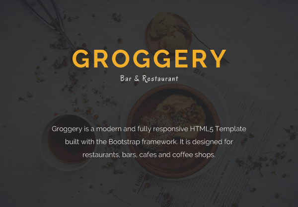 Groggery - Responsive Bar Restaurant & Cafe Template - 2